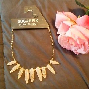 Rose Quartz Statement Necklace